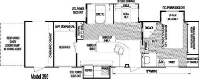 2007 Skyline Trailrider 395 Floorplan
