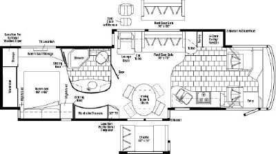 2007 Winnebago Tour 40TD Floorplan