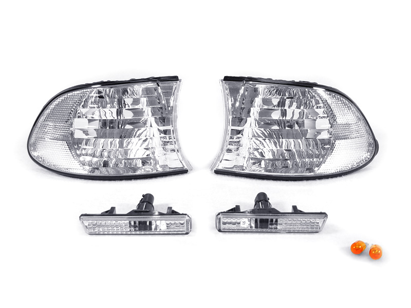 DEPO Pair Euro Clear Corner Signal+Side Marker Lights For