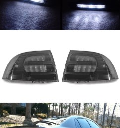 details about 6pcs combo black smoke tail light white led side marker for 2004 2008 acura tl [ 796 x 1649 Pixel ]