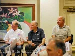 From left, Chuck Cantwell, Peter Brock and Bernie Krechmar.