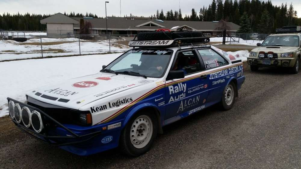 5 Cylinder Audi Quattro, classic rally style…