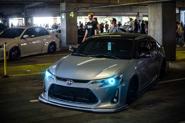 A Toyota at the 2018 Seattle StanceWars.