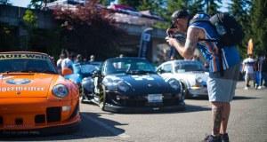 Porsche cars at the 2018 Seattle StanceWars.