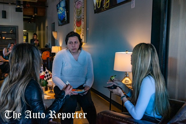 Three ladies chitchat during the Beauty & Key's launch at The Shop - The Auto Reporter