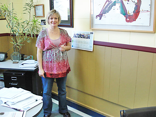 Ms. Debets in her Humboldt County Prosperity Center