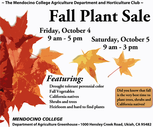 Plant Sale flyer-back fall 2013