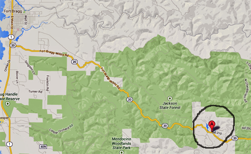 Approximate location of fatal incident