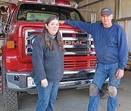 Chief Wilson with Philo Winemaker Milla Handley