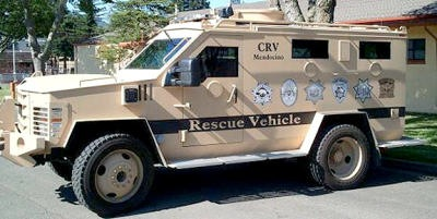 Mendocino County's Armored Citizen Rescue Vehicle  (Photo courtesy Jim Tuso)