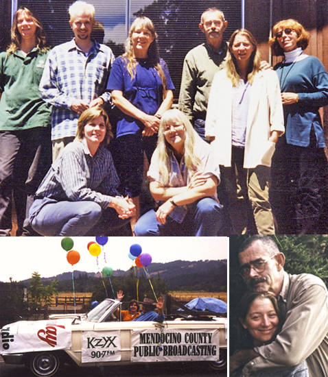 Above: Group photo, c.2000; Below-L: Laura Miller, Joanna Wildoak; Below-R: Ron O'Brien, Mary Aigner.