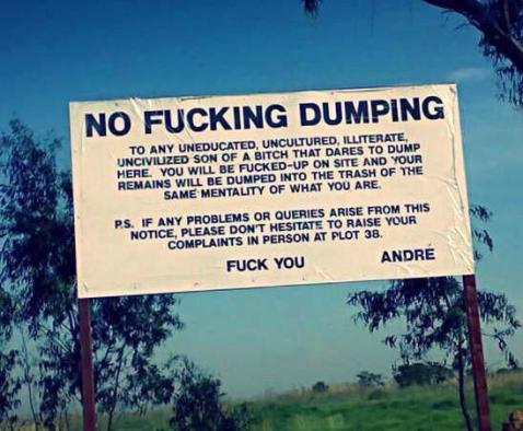 no.dumping