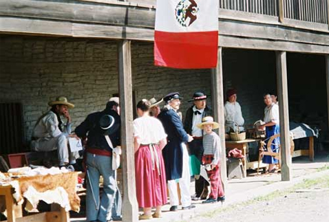 Re-enactment at the Adobe