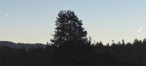 Venus & Moon Over Anderson Valley (Courtesy, MendocinoSportsPlus)