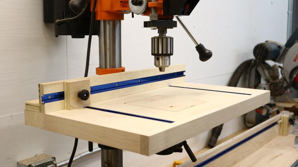 medium resolution of simple drill press table