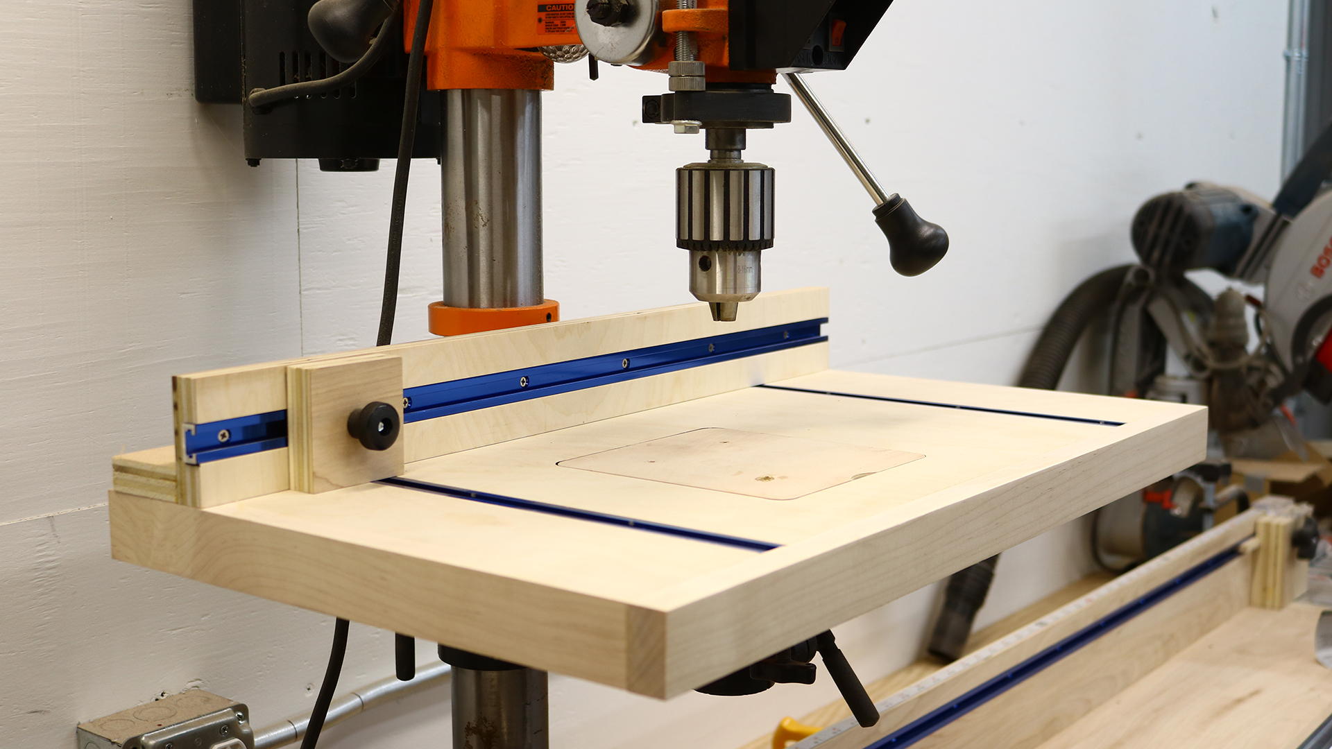 hight resolution of simple drill press table