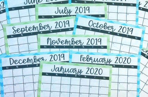 Time management for teachers - calendar