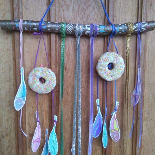 boho doughnut craft idea party dreamcatchers hanging decoration