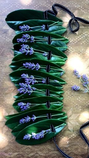 easy and super pretty leaf crown from laurel and lavender
