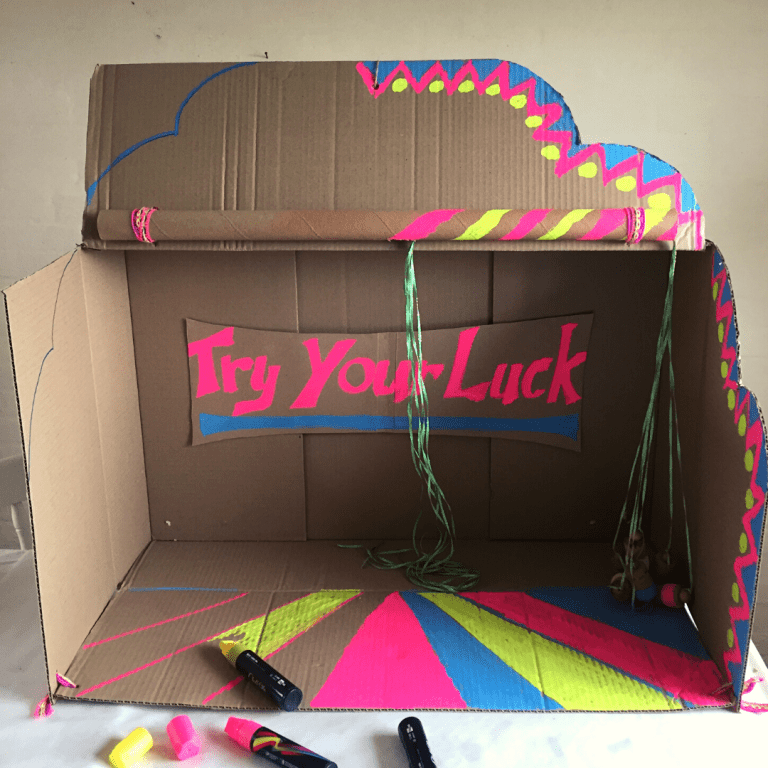 Cardboard box fairground game! – an  eco friendly party game kids will love!