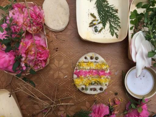 nature play easter dough eggs sensory kids play idea