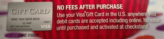 Your gift card may indicate that it was activated when purchased.