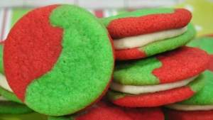 Grinch Christmas Cookie Sandwich Recipe
