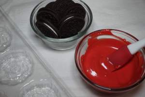 Melt Red Candy Melts in a Small Bowl