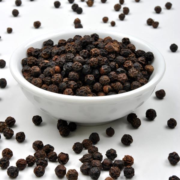 Ripe seeds of black pepper
