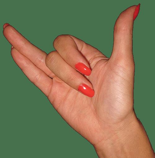 Finger point for Surya bhedana pranayama