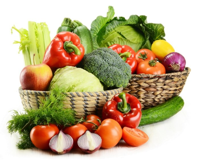 Fresh vegetables for health