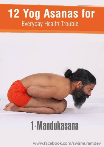 Manduk Asana or Frog Pose
