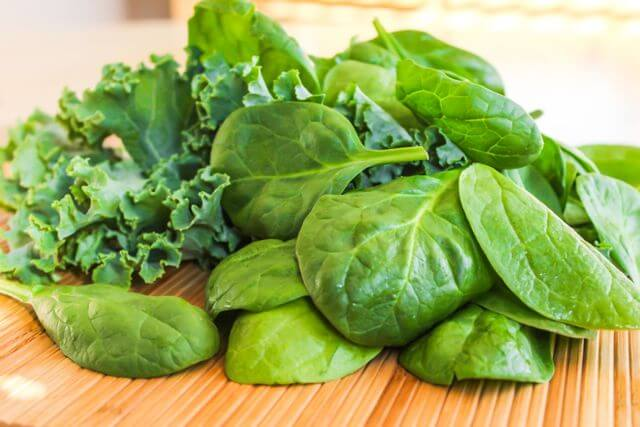 Dark green vegetables for pregnancy