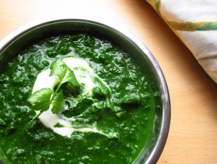 spinach in Indian cuisine