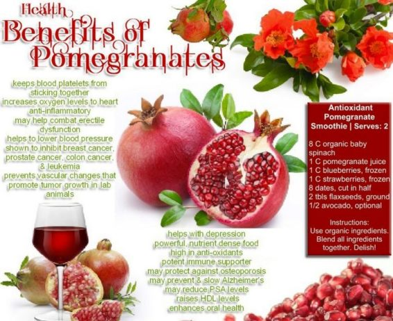 Top 10 Health Benefits of Pomegranates