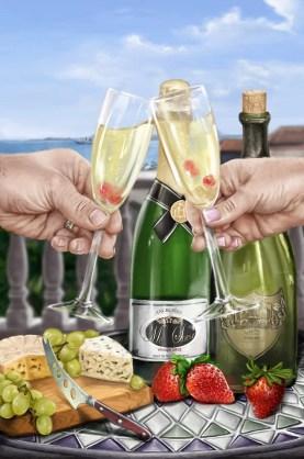 celebration champagne TWO