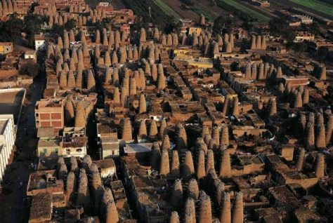 The Mit Ghamar Dovecoters of Egypt tower above the city where pigeon and squab raising is king