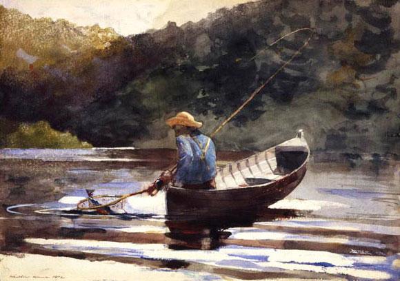 Winslow Homer Watercolor Fish