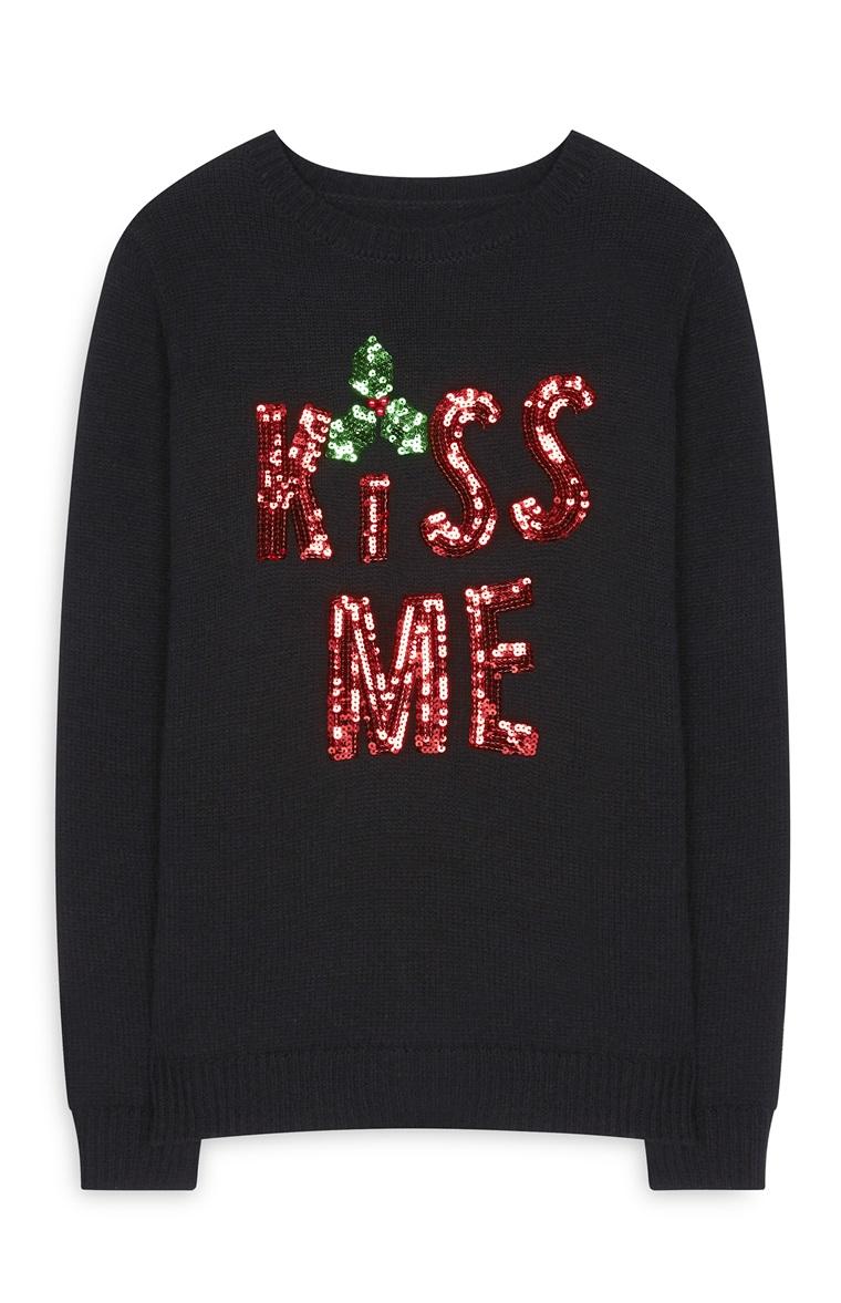maglione natalizio kiss me