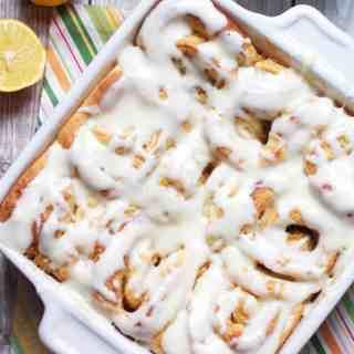 Gooey Meyer Lemon Sweet Rolls