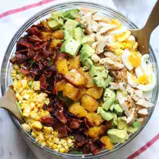 Harvest Cobb Salad with Maple Vinegarette