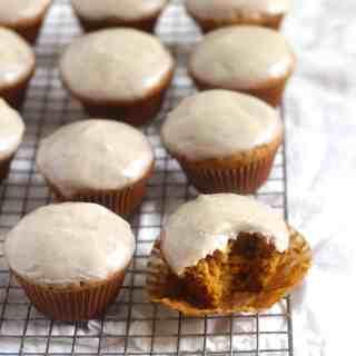 Pumpkin Muffins with Brown Butter Glaze