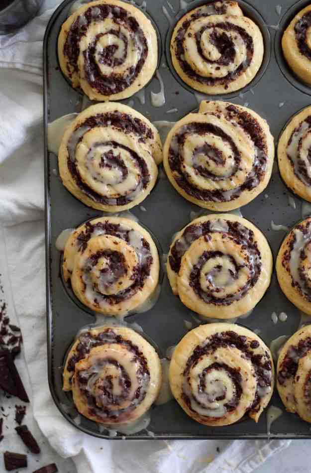 Dark Chocolate Swirl Buns
