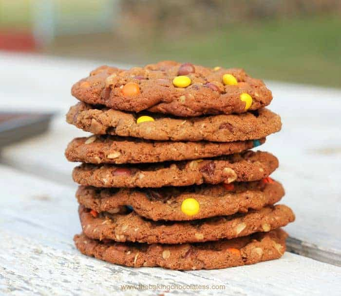 Nutella and Peanut Butter Monster Cookies