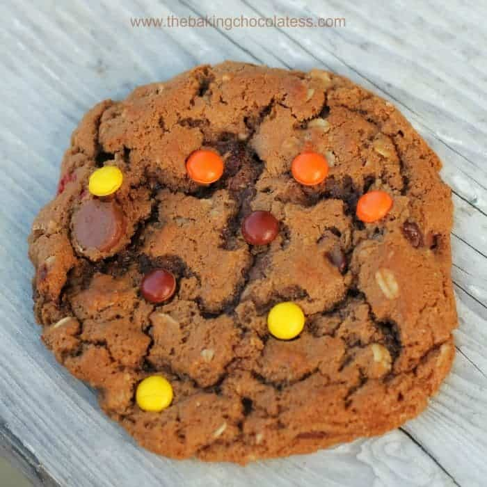 Monster Nutella and Peanut Butter Cookies