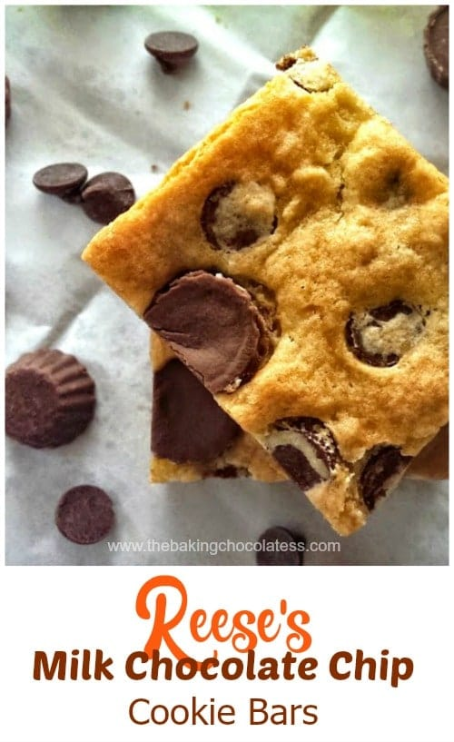 Reese's & Milk Chocolate Chip Cookie Bars