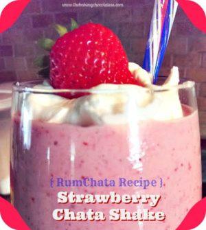 Strawberry RumChata Shake