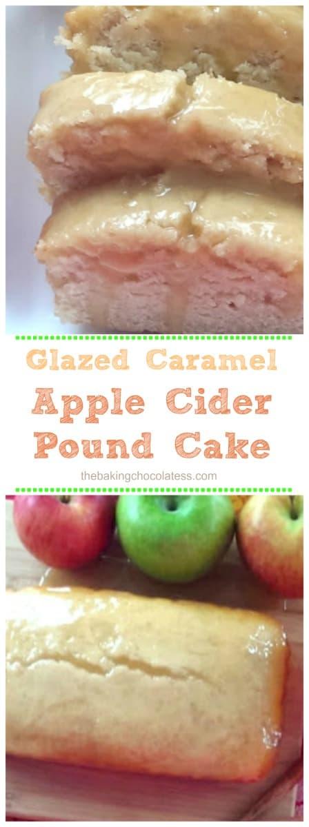 Glazed Caramel Apple Cider Pound Cake
