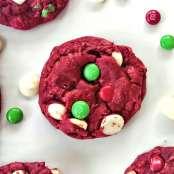 2. Red Velvet Santa {Cake Mix} Cookies