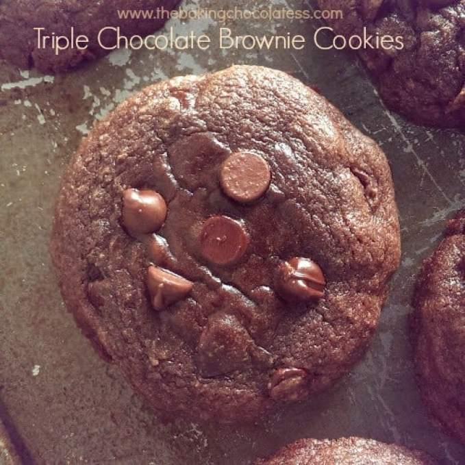 riple Chocolate Brownie Cookies
